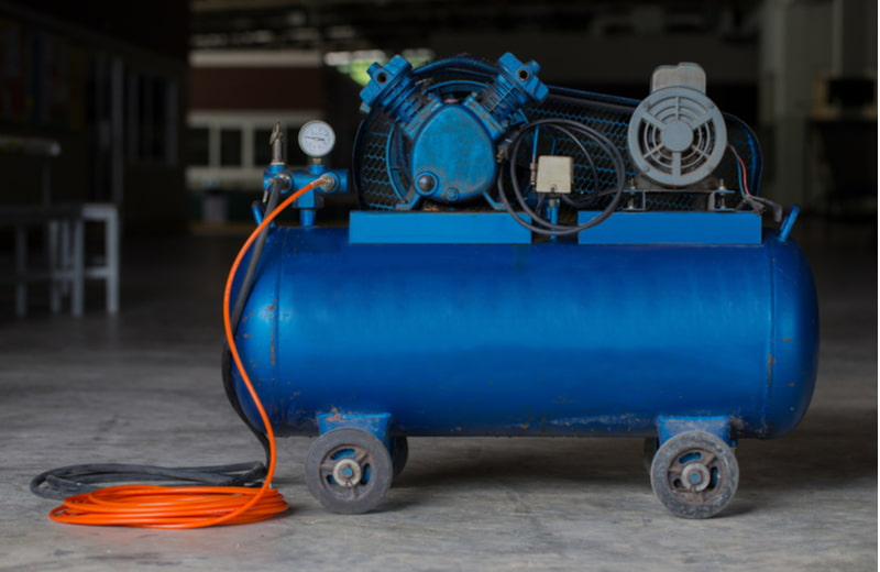 Air compressor used in the factory