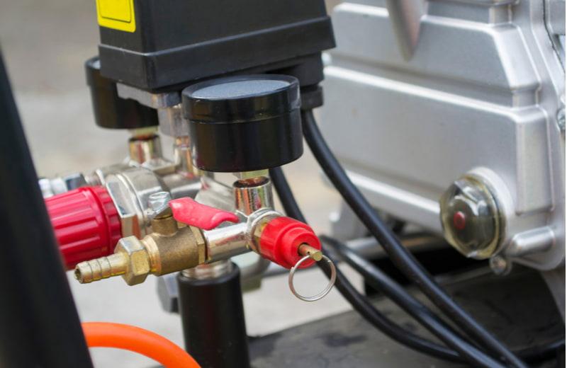 Part of a domestic reciprocating compressor