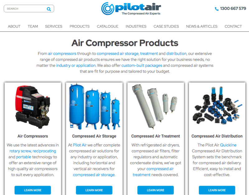 Pilot Air product page
